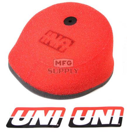 NU-4112ST - Uni-Filter Air Filter. For 97-05 Honda CRF & XR 50/70 (Hi-Flow), 89-01 CR125, 88-01 CR250, 89-02 CR500