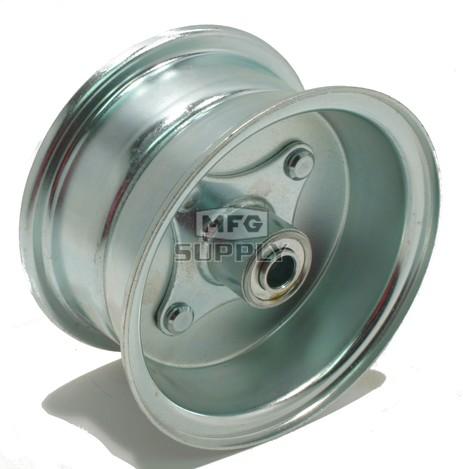 "AZ1081 - 6"" Steel Multi-Purpose Wheel, Centered 5/8"" Ball Bearing Hub"