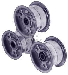 "AZ1144-MB - 5"" Aluminum Wheel, 3"" wide, 5/8"" ID Bearing (2 required for Mini-Bike)"