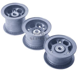 "AZ1067-GK - 5"" Azusalite Rear Wheel, 4"" wide, 1"" to 3/4"" Step Live Axle (2 required for Go-kart)"