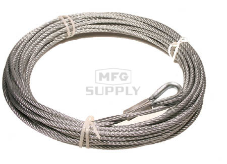 "RUCABLE4500 - 1/4"" x 45' steel cable for 4500 lbs winch"