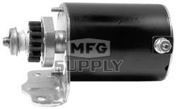 """SBS0001 - Briggs & Stratton Starter; 16 Tooth, Used on all single cylinder aluminum block engines. 4"""" long housing"""