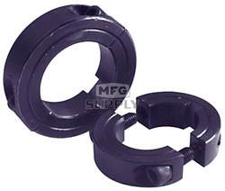 AZ8578 - Aluminum Split Locking Collar 1 ID x 1-3/4 OD x 1/2 W x 1/4 keyway