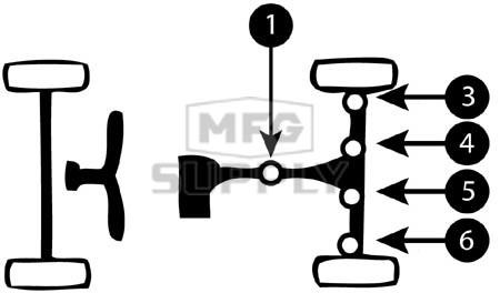K158753-HH36 - Suzuki ATV U-Joint for rear axle