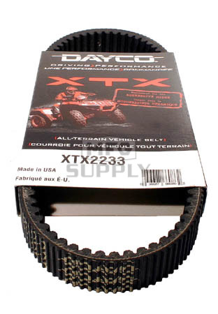 XTX2233 - Yamaha Dayco XTX (Xtreme Torque) Belt. Fits 01 & newer Grizzly & Rhino models.
