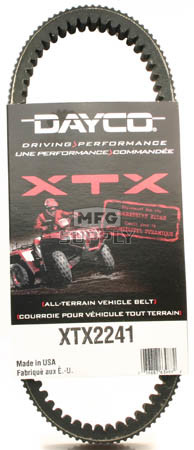 XTX2241 - Yamaha Dayco  XTX (Xtreme Torque) Belt. Fits many 07 and newer Grizzly & Rhino models.