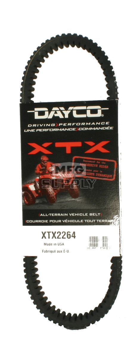 XTX2264 - Polaris Dayco  XTX (Xtreme Torque) Belt. Fits 2015 and newer RZR 900 models.