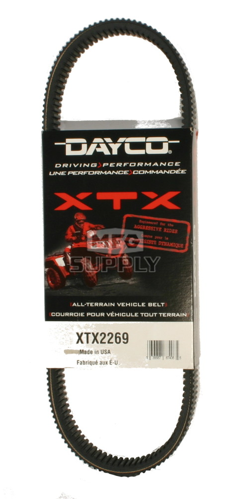 XTX2269 - Polaris Dayco  XTX (Xtreme Torque) Belt. Fits 2015 and newer Ranger 1000 Diesel models.