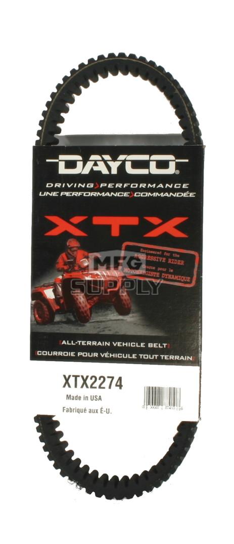 XTX2274 - Bombardier Dayco XTX (Xtreme Torque) Belt. Fits many 2002-05 Qwest & Traxter ATVs