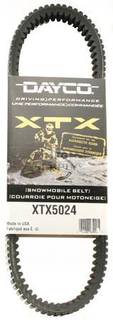 XTX5024 - Ski-Doo Dayco  XTX (Xtreme Torque) Belt. Fits 03 & newer High Performance Ski-Doo.