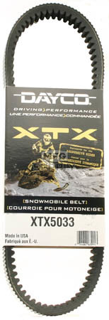XTX5033 - Yamaha Dayco XTX (Xtreme Torque) Belt. Fits most '08 and newer high powered Snowmobiles.