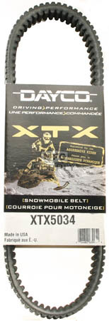 XTX5034 - Ski-Doo Dayco XTX (Xtreme Torque) Belt. Fits many '09 and newer high powered Snowmobiles.