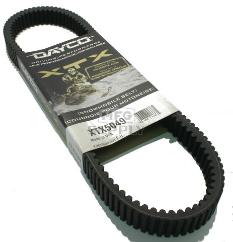 XTX5049 - Arctic Cat Dayco  XTX (Xtreme Torque) Belt. Fits many 2012-newer ZR 6000 Sno Pro Snowmobiles