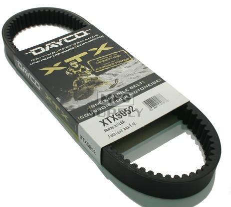 XTX5052 - Polaris Dayco XTX (Xtreme Torque) Belt. Fits most 2014-newer Indy 550 Snowmobiles
