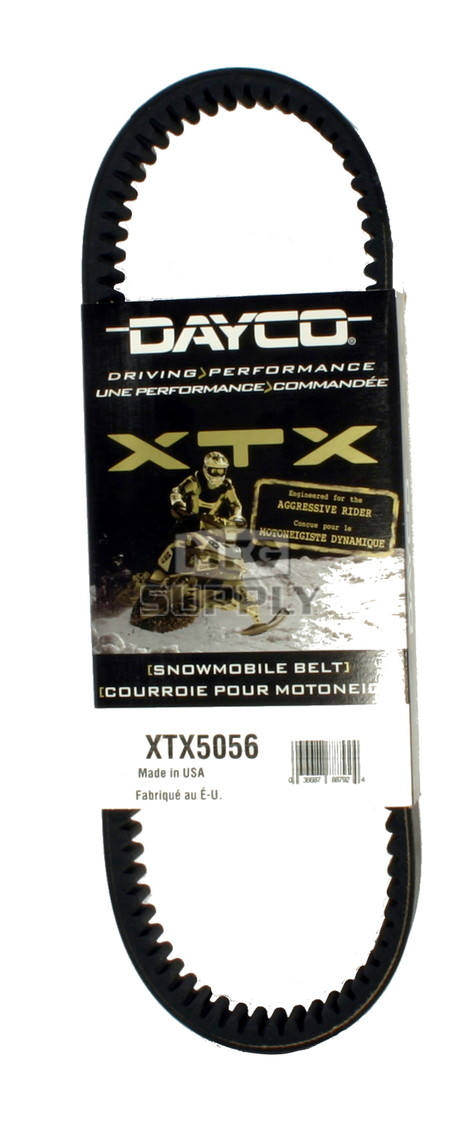 XTX5056 - Ski-Doo Dayco  XTX (Xtreme Torque) Belt. Fits many 10-11 550 Fan Cooled models.