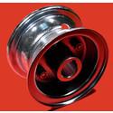 """AZ1030 - 4"""" Steel Wheel, 2-7/8"""" wide, 1"""" live axle."""