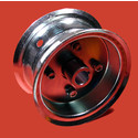 "AZ1032 - 5"" Steel Wheel, 3-3/8"" wide, 1"" live axle."