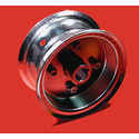 """AZ1034 - 6"""" Steel Wheel, 3-9/16"""" wide, 1"""" live axle."""