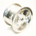 "AZ1127 - 6"" Aluminum Wheel, 4"" wide, 3/4"" ID Bearing"