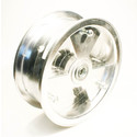 "AZ1153 - 8"" Aluminum Tri-Star wheel, 3-9/16"" wide, 3/4"" ID Bearing"