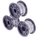 "AZ1137 - 5"" Aluminum Wheel, 3"" wide, 3/4"" ID Tapered Bearing"