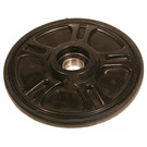 "04-1632-20 - Arctic Cat 6.380"" (162mm) Black Idler Wheel with 6004 series bearing (20mm ID)"