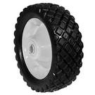 "6-288 - 8.25"" X 2.75"" Steel Wheel with 3/4"" ID Ball Bearing (Diamond Tread)"
