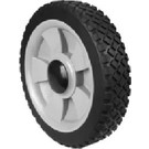"7-9365 - 8"" x 1.75"" Plastic Wheel with 1/2"" Center Hole (Brick Tread)"