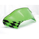 479-173-49 - Arctic Cat Low Flared Windshield Neon Green w/Black Checkerboard