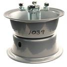 "AZ1039 - 6"" 2 piece Steel Wheel, 4-3/4"" wide, 5/8"" ID Bearing, flanged hub"