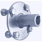 "AZ2282 - Steel Hub for 1"" live axle. 1"" to 3/4"" stepped bore."