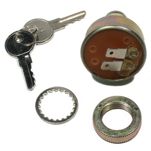 01-118-19 Polaris Aftermarket Ignition Switch with Keys for Various 1991-1999 Manual Start Model Snowmobiles