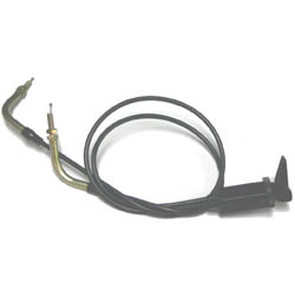 "05-928-1 - 24-1/2"" Dual Mikuni Choke Control Cable with 90 degree elbow"