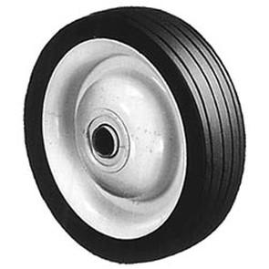 """6-273 - 5"""" X 1.25"""" Steel Wheel with 1/2"""" ID Ball Bearing (Rib Tread)"""