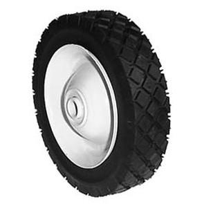 "6-276 - 7"" X 1.50"" Steel Wheel with 1/2"" ID Ball Bearing (Diamond Tread)"