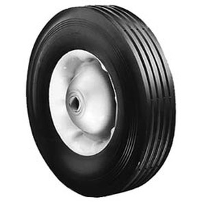 "6-289 - 10"" X 2.75"" Steel Wheel with 5/8"" ID Ball Bearing (Rib Tread)"