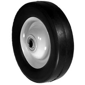 "6-6675 - 6"" X 1.66"" Yazoo 2302-023 Steel Wheel with 1/2"" ID Ball Bearing"