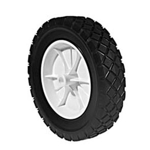 "7-280 - Plastic Wheel 6"" X 1.50"" with 1/2"" Center Hole (Diamond Tread)"