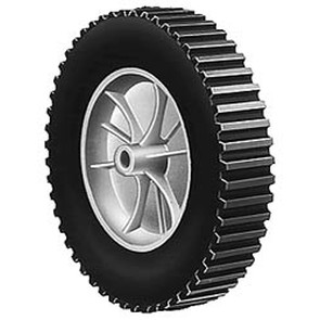"7-283 - 8"" X 1.75"" Murray 20105 and AYP 148436 and Noma 56324 Plastic Wheel with 1/2"" Center Hole (Lug Tread)"