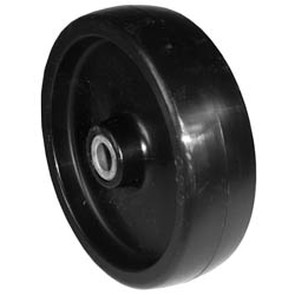 "7-6915 - 5"" X 1.375"" Deck Wheel,1-1/2 Center Hub,1/2"" Center Hole Steel Bushing"