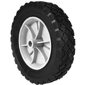 "7-8927 - 8"" X 1.75"" Snapper 22374 Plastic Wheel with 9/16"" Center Hole (Diamond Tread)"