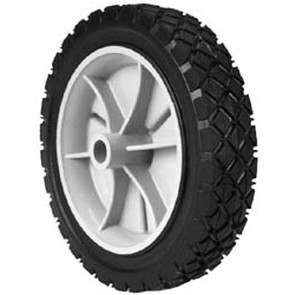 "7-8928 - 7"" X 1.50"" Snapper 22795 Plastic Wheel with 9/16"" Center Hole (Diamond Tread)"