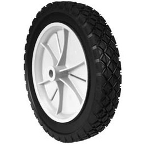"7-8931 - 10"" x 1.75"" Snapper 35739 Plastic Wheel with 9/16"" Center Hub (Diamond Tread)"