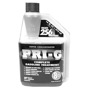 32-10669 - PRI-G Gasoline treament. 16 oz bottle. Treats 256 gallons. (Concentrate)