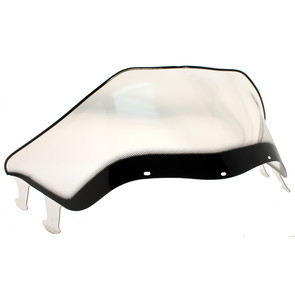 "450-238-03 - Polaris Low 11-1/2"" Windshield Graphic Smoke. Agressive Style Hood."