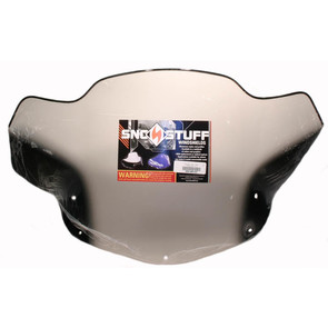 "450-483-03 - Ski-Doo Fixed Med 14"" Smoke with Black Graphics Windshield. Many 04-09 Summit REV"