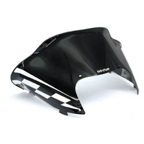 479-178-55 - Arctic Cat Low Flared Windshield Black Windshield w/ White Checkerboard