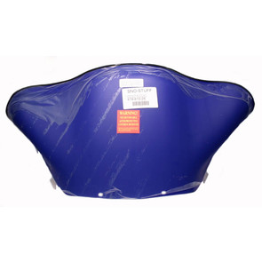 "479-610-26 - Yamaha Low 13"" Flared Solid Team Yamaha Blue Windshield. SX Chassis."