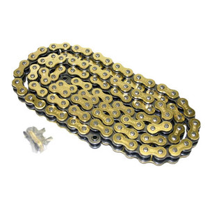520GO-ORING-120 - Gold 520 O-Ring ATV Chain. 120 pins