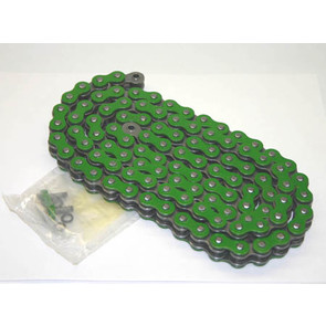 520GR-ORING-98 - Green 520 O-Ring ATV Chain. 98 pins
